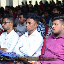 Orientation Programme 2018 – B.Sc. Management (Public) (General) External Degree