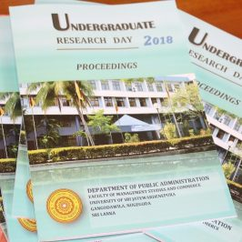 Undergraduate Research Day – 2018 | Dept. of PUB