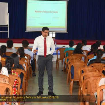 "Guest Lecture on ""Monetary Policy in Sri Lanka"""