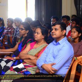 "Guest Lecture on ""Contemporary Economic Issues in Sri Lanka"""