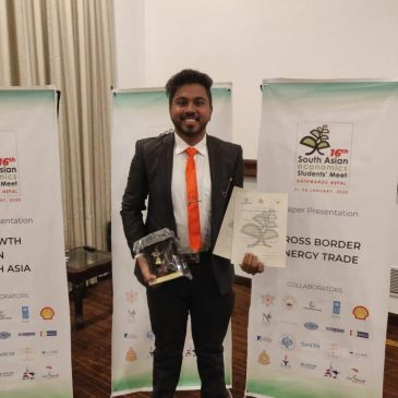 BEC Student wins Best Paper Award at SAESM 2020