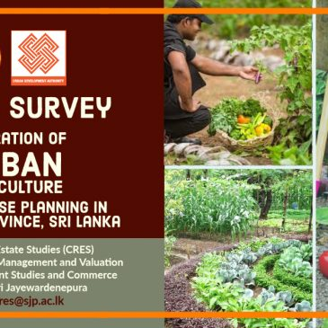 Public Survey on Integration of Urban Agriculture into Land Use Planning in Western Province, Sri Lanka