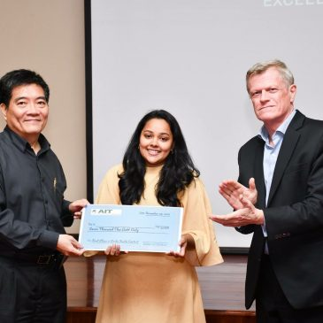 Ms. T L Navaratne wins two awards for her outstanding performance during the Master's Programme