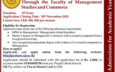 Call for Applications – PhD Program in Management